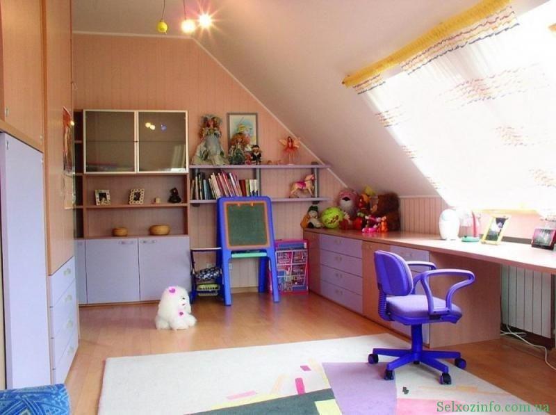 Сделать комнату на чердаке